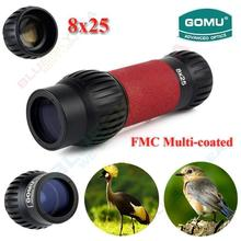 Sale Free Shipping!GOMU 8×25 Handheld Spotting Scopes Day&Night Vision HD Optical Monocular for Hunting Camping Hiking Telescope