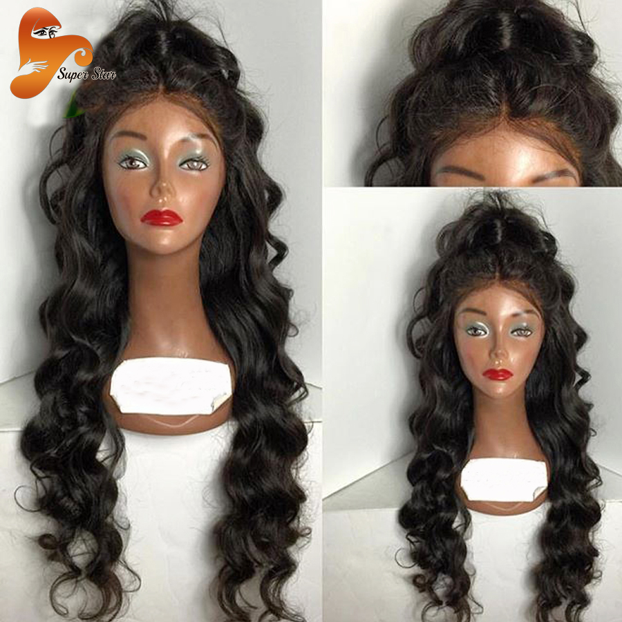 8A Body Wave Full Lace Human Hair Wigs For Black Women ... - photo#29