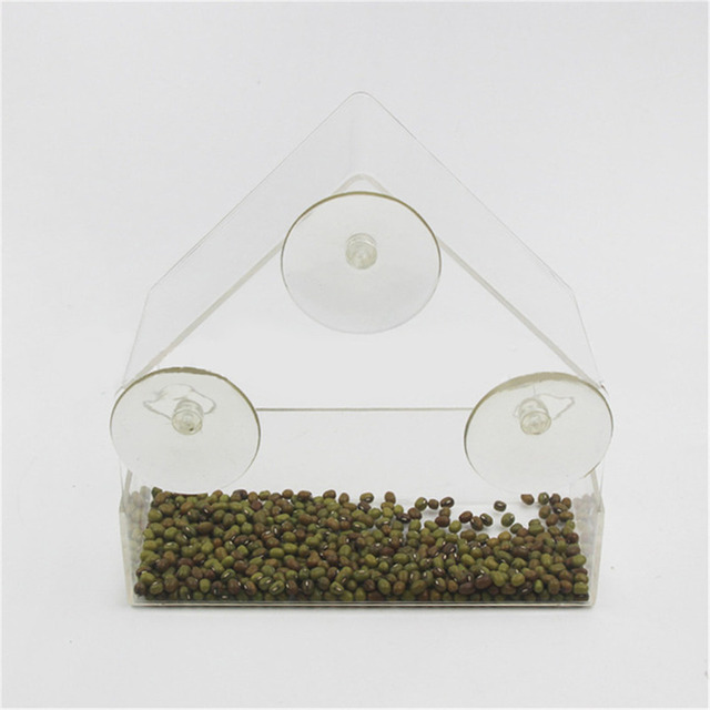 Transparent Window Outdoor Bird Feeder 4