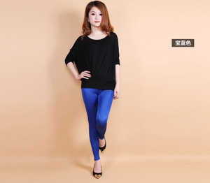 Image 2 - Female 100% real silk double faced long trousers candy silk legging slim pencil pants