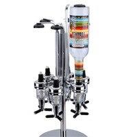 6 бутылок вращающийся бар Батлер коктейльное theroom ликер дозатор напитков винный шкаф держателя Барная посуда Pour Рамки (Цвет: серебро)