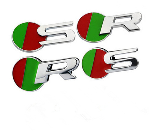 Car Styling Hot S R Sport Car Boot Badge Fit For Jaguar Xf Xj Xk Xjr