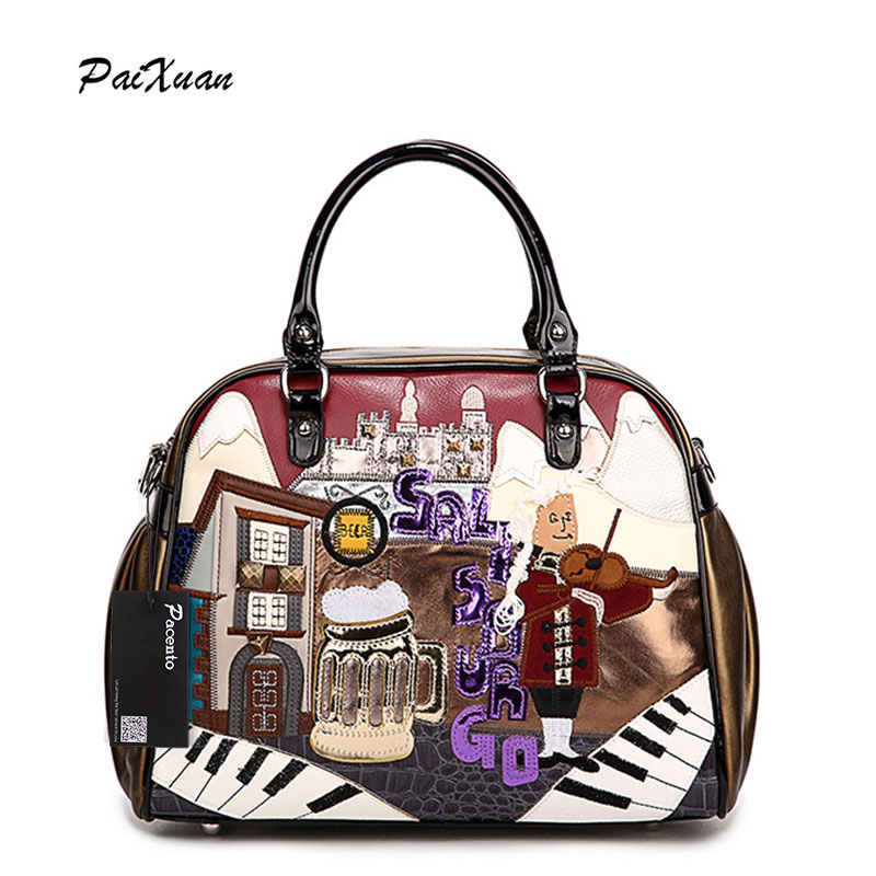 2017 Luxury brand Women Leather Handbags Cartoon Bag Italy Borse Braccialini Messenger bags Cross Body portefeuille femme canta big face cat package dog printing bag borse borse da donna marche famose luxury women designer handbags high quality brand 49