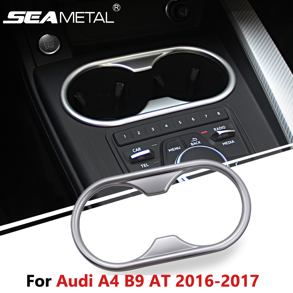 For audi a4 b9 at sedan saloon 2016 2017 car water cup cover holder stickers internal