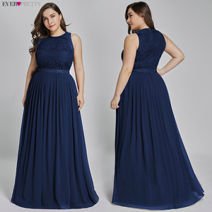 Image 3 - Long Burgundy Prom Dresses 2019 Ever Pretty Elegant Beading A Line Pleated Chiffon Lace Formal Party Gowns Vestidos De Fiesta