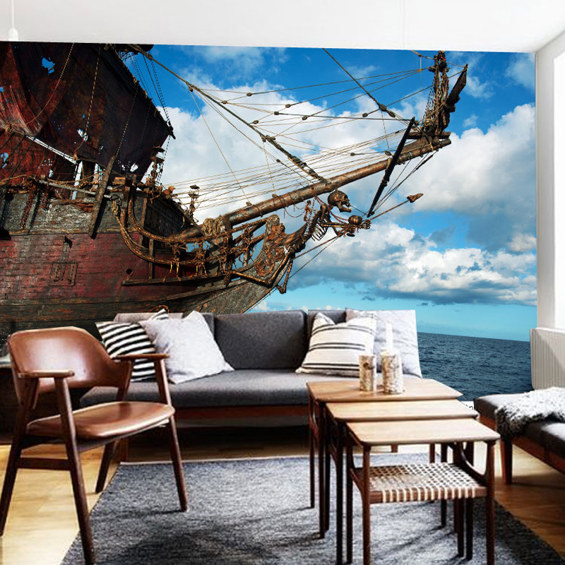 Photo wallpaper 3D art personalized restaurant bar KTV rooms background mural Pirates wallpaper mural free shipping personalized fashion figure puzzle 3d wallpaper salon bedroom wallpaper background bar ktv mural
