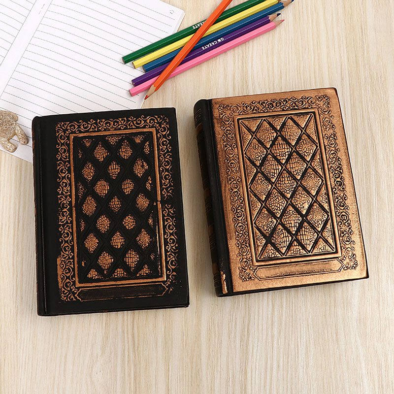 1pcs 220 Sheets Creative Imitation Leather Embossed Gospel Notebook Fashion European Classic Retro Office School Gift Notepad