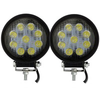 2pcs 4x4 Spot Lights Round Led Dc 12v 27w Suv Atv Spot Flood Beam Led Tractor