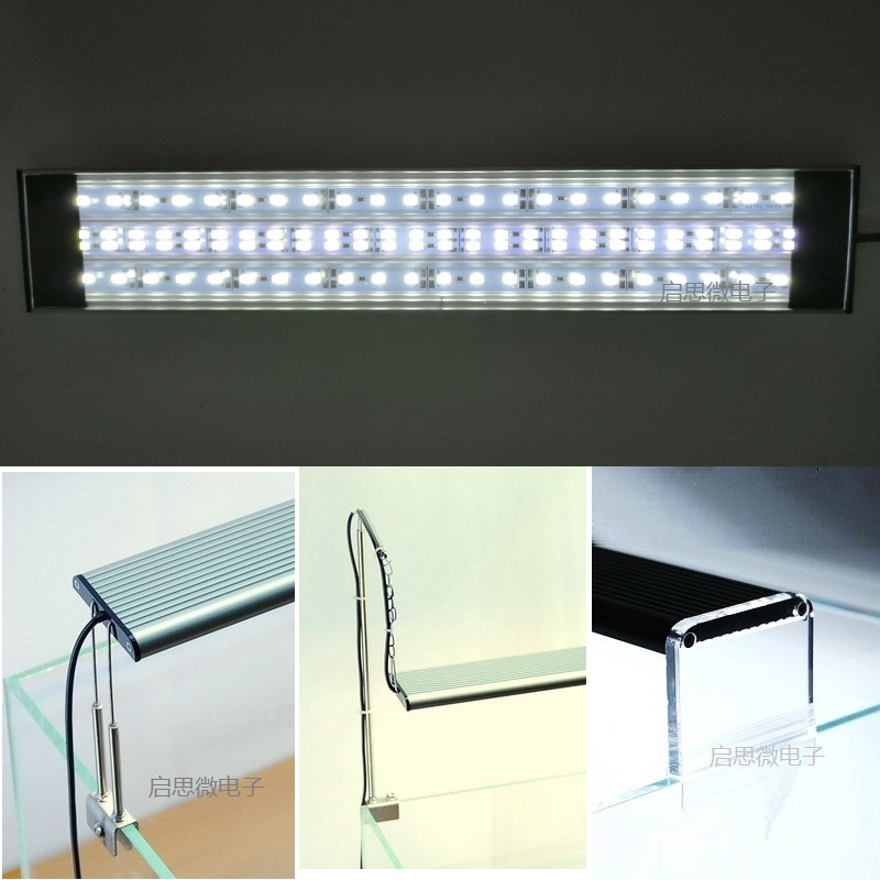 1pc Aquarium light Fish Tank Ultra Bright SMD Led Light Lamp Dimmable 30 40 50 60cm