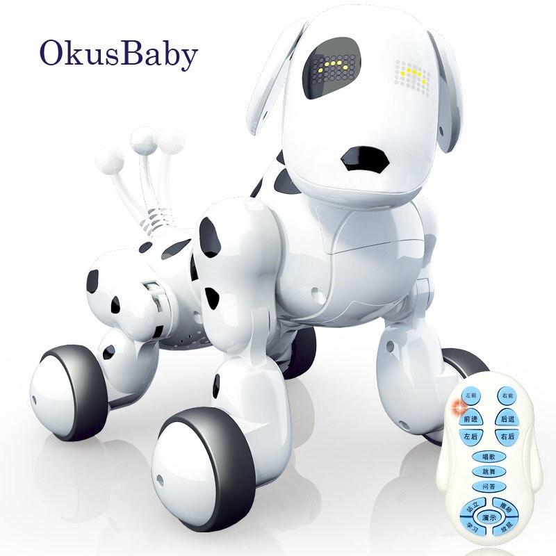 Tout nouveau 2.4G télécommande sans fil Smart Robot chien enfants jouet Intelligent parlant Robot chien jouet électronique Pet cadeau d'anniversaire