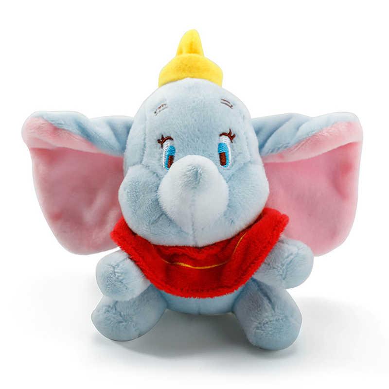 12 cm חמוד דמבו ממולא בעלי החיים בפלאש צעצועי קטן תליון יפה Peluche קריקטורה פיל בובת מציג לילדים מפתח שרשרת