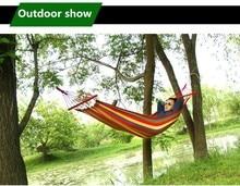 VILEAD Canvas Double Spreader Bar Hammock With Wooden Garden Camping Swing Hanging Bed Outdoor Furniture Hamacas De Dormir Ramak
