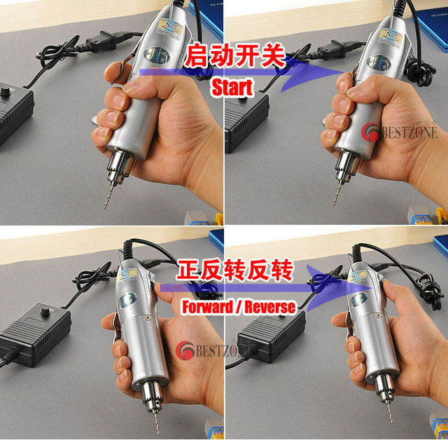 Micro electric hand drill machine/ adjustable variable speed electric drill tools/ electric mill / mini drill or mini mill tools