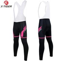 X-טייגר Dalila 100% לייקרה נשים רכיבה על אופניים ביב מכנסיים 3D Gel Pad/למעלה איכות נשים מכנסיים קצרים Mountian אופניים מכנסיים אופני רכיבה על אופניים