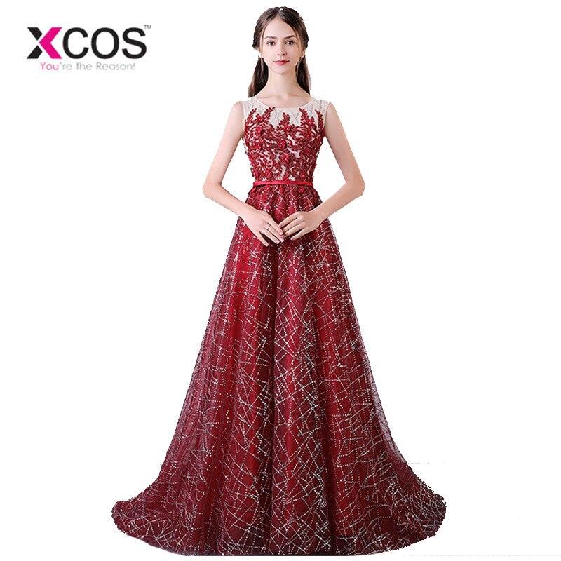 Discount Designer Evening Dresses: Aliexpress.com : Buy XCOS Sexy Glitter Champagne Burgundy