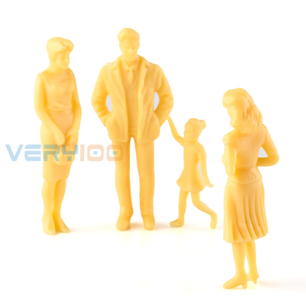 20pcs Unpainted Model Home Decoration Train Layout People Figures 1:25 G Scale Mixed Model Figures Simulation Game Scene Layout