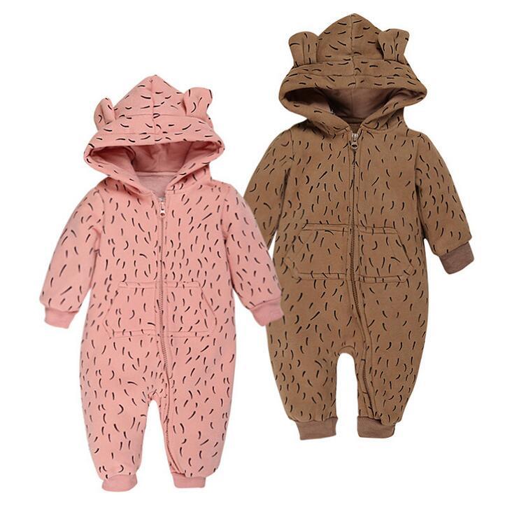 hot sales children boys and girls Thickening cotton beaar rompers infant baby winter clothing newborn kids outwear