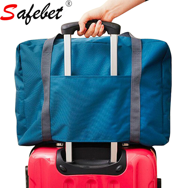 2017 Fashion Travel Bag Organizer Waterproof Large Capacity Men Women Polyester Folding Trolley Luggage Ziplock Duffle Shoe Bag