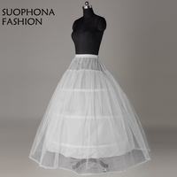 Wholesale 3 Hoops One Layer Tulle Crinoline Ball Gown Wedding Dress White Jupon Mariage Petticoat In