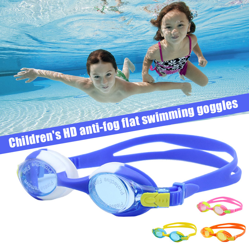 Children Kids Swimming Goggles Glasses HD Waterproof Anti-fog Silicone Frame For Pool Beach Sea B2Cshop