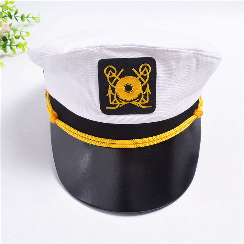 Captain with Anchor Embroidered Baseball Cap Hat Available in 7 Colors
