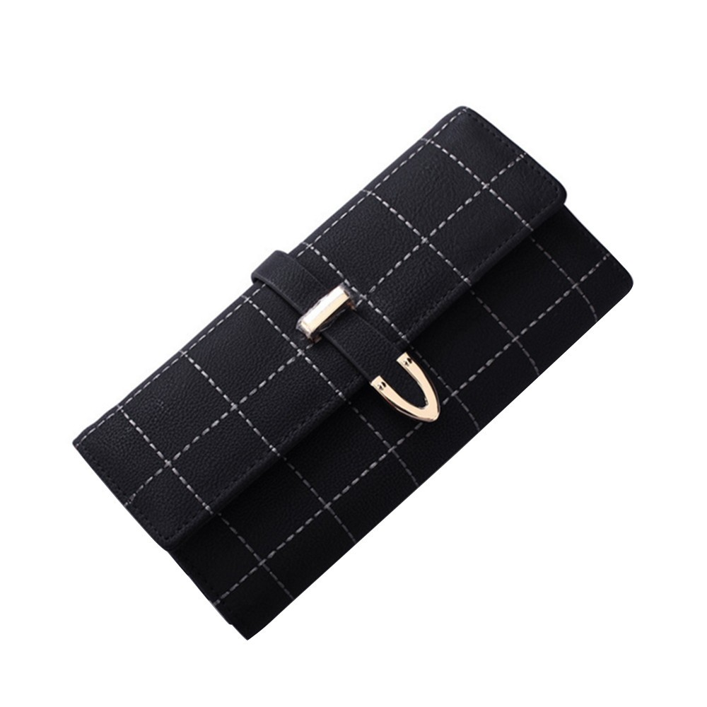 2018 Coin Purse Bag Women Girls Purse Female Long Section Of Retro Scrub Covered Three Fold Big Wallet Wallet Girls