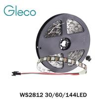 WS2812 Pikseli DC5V Cyfrowe Taśmy LED 5050 RGB 30/60/144LED WS2812B Taśmy LED Pixel Światło IP20 IP65 IP67 Wodoodporna