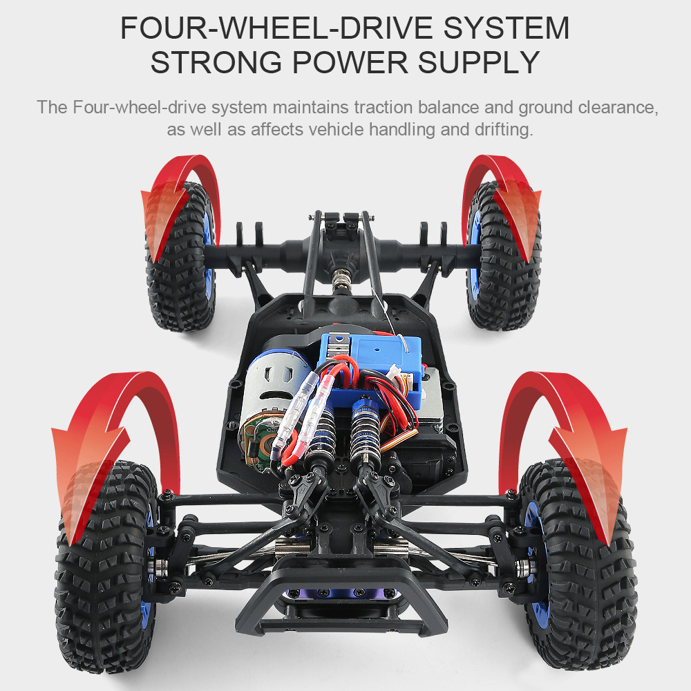 JJRC JJRC Q46 112 2.4G RC Car 4WD 45kmh High Speed Rock Crawler Desert Buggy Cars RTR for Kids Children Gifts RC Toys (18)
