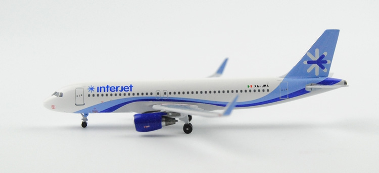 rare Fine Aeroclassics 1: 400 INTERJET A320 / w XA-JMA Alloy aircraft model Collection model Holiday gifts fine special offer jc wings 1 200 xx2457 portuguese air b737 300 algarve alloy aircraft model collection model holiday gifts