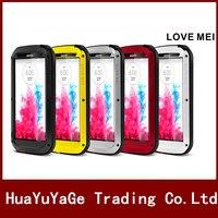 LOVE MEI Powerful Metal Case Luxury Aluminum Dirt Waterproof Shockproof Cover For LG G3 G4 G5