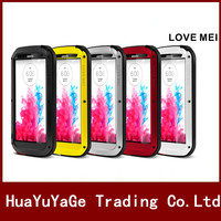 LOVE MEI Powerful Metal Case Luxury Aluminum Dirt Waterproof Shockproof Cover For LG G3 G4 G5
