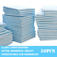 Health Clean Pet Diapers High Molecular Super Absorbent Dog Pads Deodorant Antibacterial Pet Urine Mats 50pcs