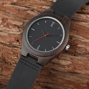 Image 5 - Liefhebbers Geschenken Luxe Royal Ebbenhout Horloge Mens Fashion Houten Vrouwen Jurk Klokken Mannelijke Lederen Valentijnsdag Relojes