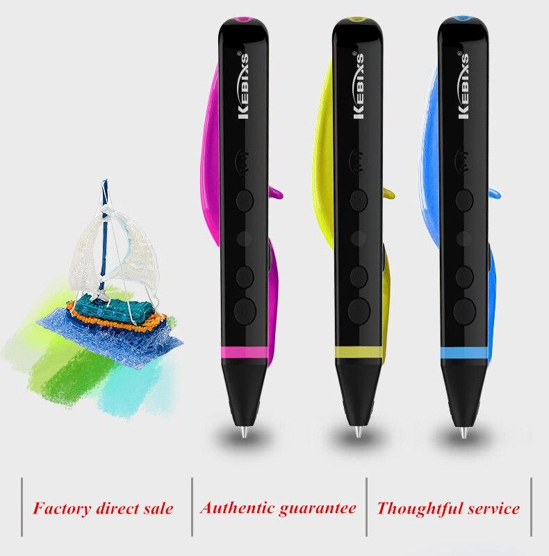 купить Six Generation Newest High/Low Temperature 3D Magic Pens Can Speak 3D Graffiti Pens Add ABS PLA PCL Filament Free Shipping по цене 2161.64 рублей