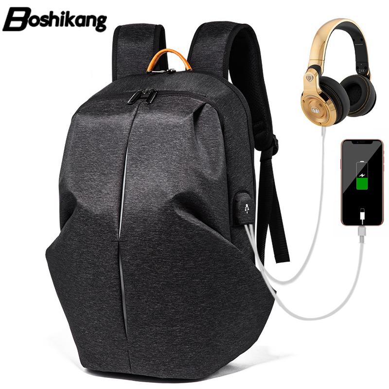 Boshikang 15.6inch Laptop Backpack Usb Charge Men Backpack Anti-theft Waterproof Computer Backpacks For Men Women Casual