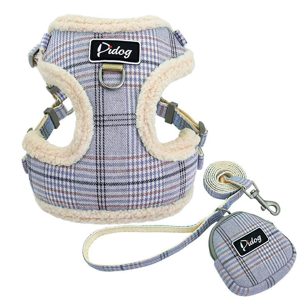 Diaper - Soft Pet Dog Harnesses Vest No Pull Adjustable Chihuahua Puppy Cat Harness Leash Set For Small Medium Dogs Coat Arnes Perro