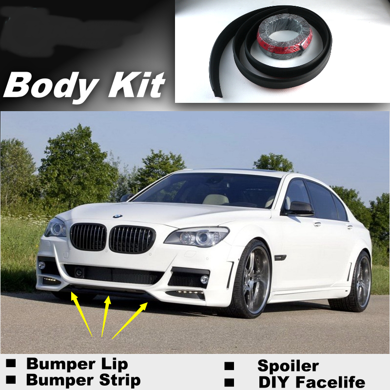где купить For BMW 7 E32 E38 E65 E66 E67 E68 F01 F02 Bumper Lip Lips / Shop Spoiler For Car Tuning / Show Body Kit + Strip дешево