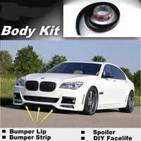 Voor BMW 7 E32 E38 E65 E66 E67 E68 F01 F02 Bumper Lip lippen/Shop Spoiler Voor Auto Tuning/Show Body Kit + Strip