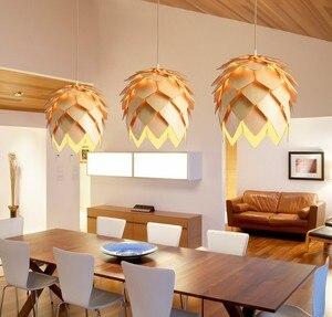 Image 5 - Nordic ไม้จี้ Pine CONE จี้ไม้ DIY อเมริกันโมเดิร์นแขวนโคมไฟห้องนั่งเล่นห้องนอนห้องนอน Cafe