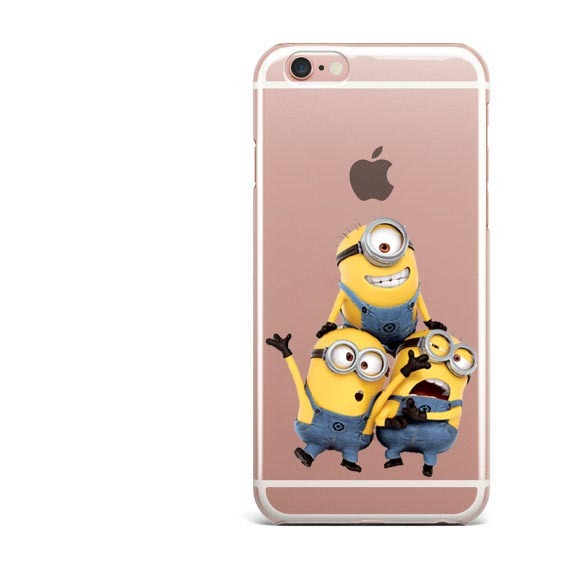 Transparent Silicone Despicable Me Minions Phone Cases