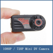 Newest Full HD 1080P / 720P Mini DV Camera QQ6 , 12M Wide Angle IR Night Version Motion Dection , Support TF Card PC TV Output