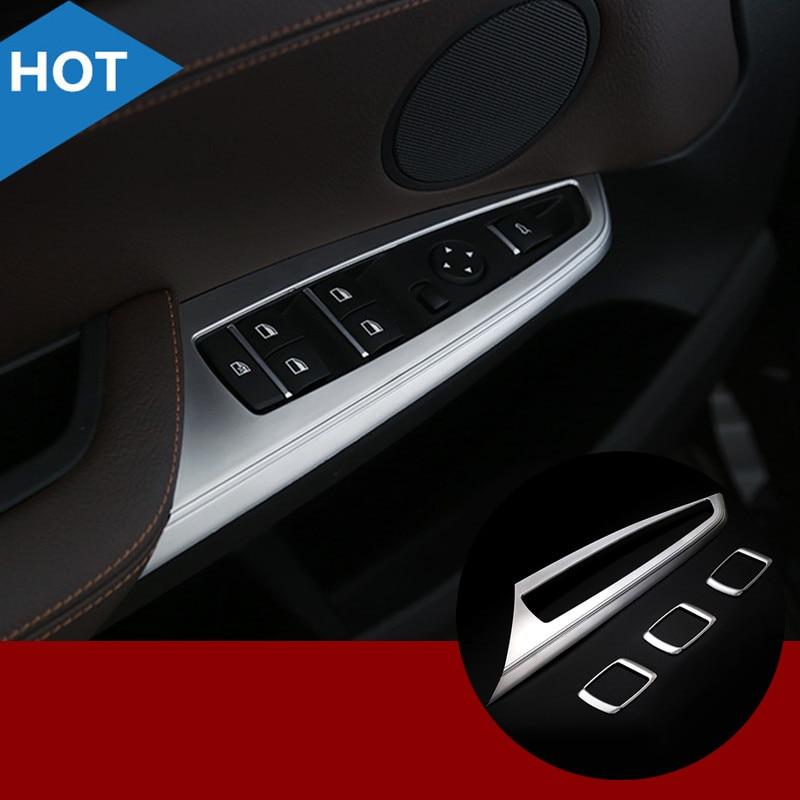For BMW X3 F25 ABS Inner Door Window Switch Button Cover Trim 2011-2015 4pcs for benz cla c117 w117 inner door window switch button cover 2014 2017 14pcs