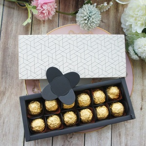 Image 5 - 9.5x24.5x3.5 CM zarif petek tarzı 10 set Çikolata şeker mum kağit kutu sevgililer günü Noel Doğum Günü hediyeler paketi