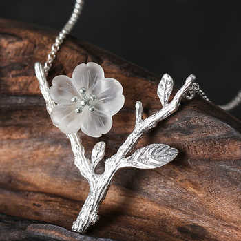 Lotus Fun Real 925 Sterling Silver Handmade Designer  Fine Jewelry Flower in the Rain Necklace with Pendant for Women Collier - DISCOUNT ITEM  0% OFF All Category