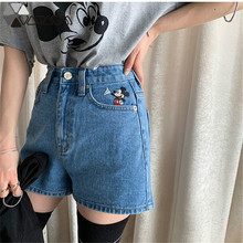 New Mickey Mouse Jean Short Summer Shorts Women Plus Size Cowboy Woman Bf School Wind Student Tide High Waist 2019