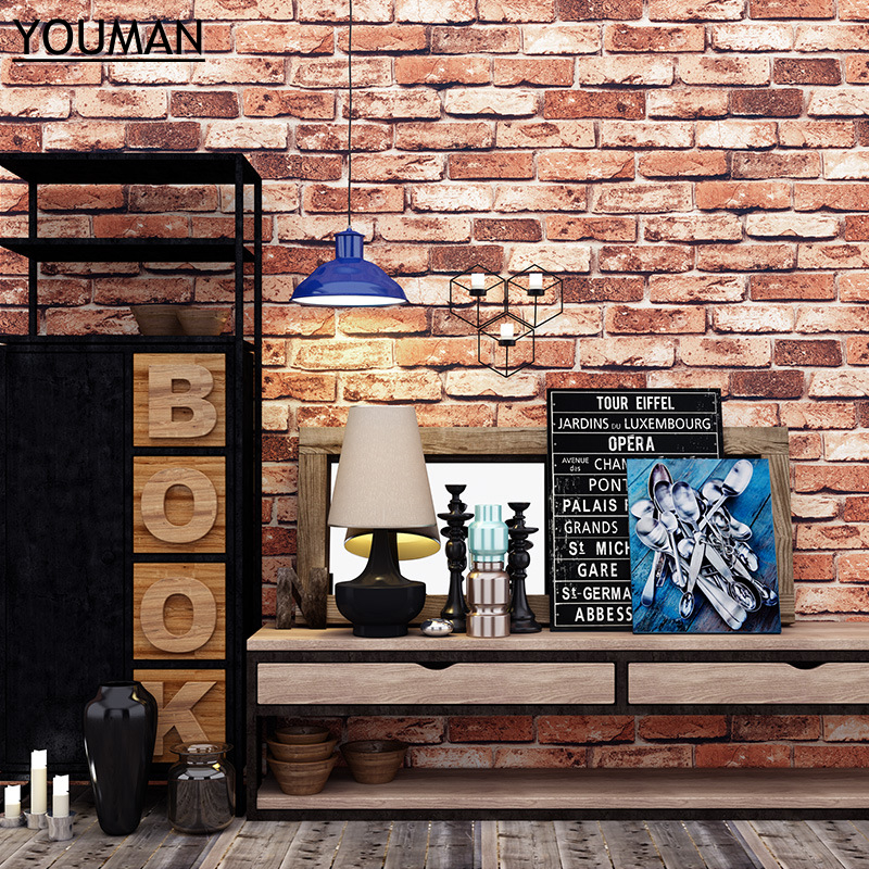 Wallpapers YOUMAN 3d Brick Wallpaper Wall Coverings Brick Wallpaper Bedroom 3d Wall Vinyl Desktop Backgrounds Home Decor Art wallpapers youman modern 3d wall coverings embossed pvc wallpaper stone wall wallpaper wall vinyl desktop backgrounds room decor