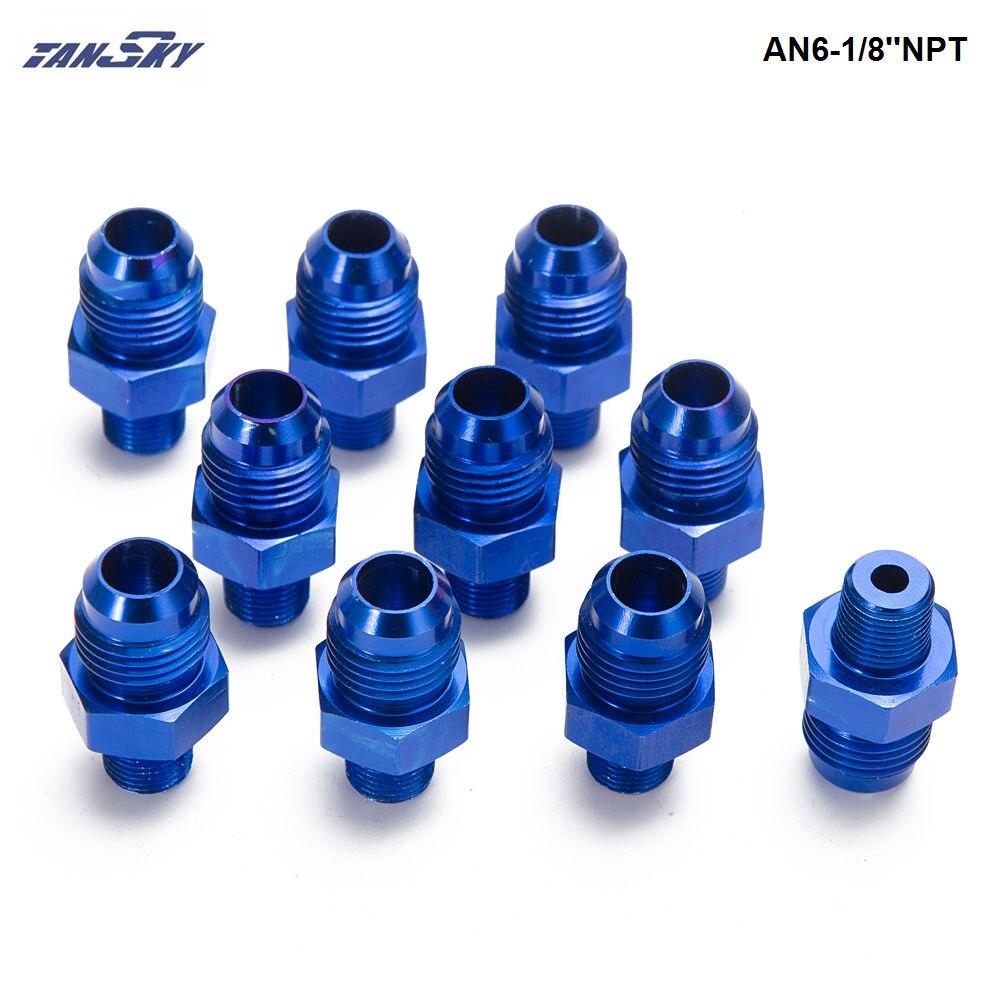 6AN AN6 6-AN 180°Degree Push Lock Fuel Oil Air Hose End Fitting Adaptor Black