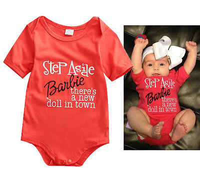 0-24 months baby boy girls outfit 2016 summer short sleeve letter printing clothes cotton romper short form for months