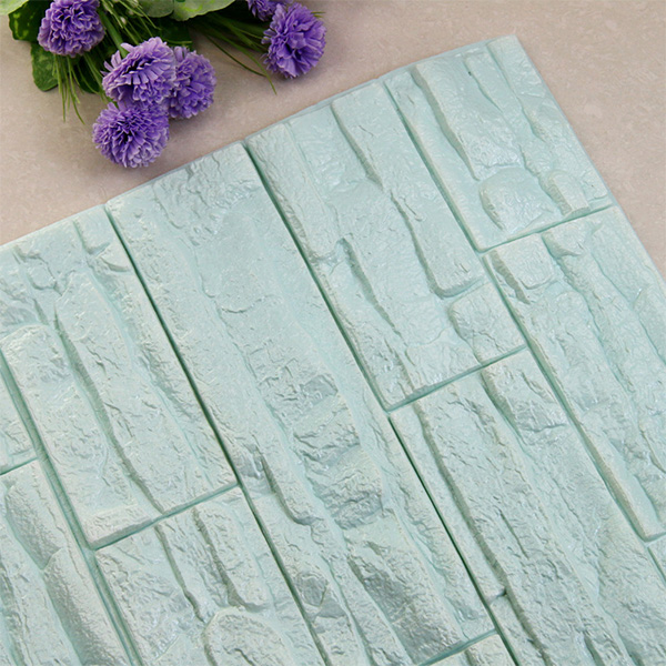 DIY 3D кирпичная ПЭ Пена наклейки на стену панели комнаты наклейка каменное украшение рельефная гостиная детская безопасная спальня домашний декор - Цвет: Light blue  70x38 cm