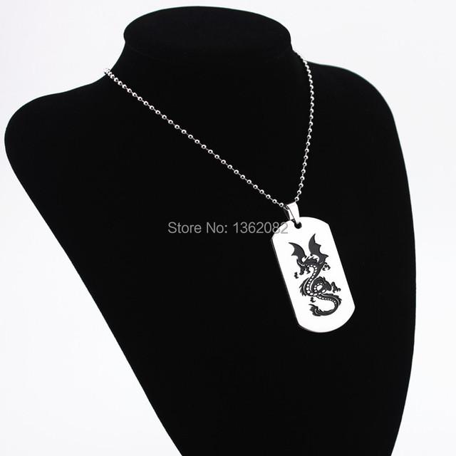 Fashion Jewelry Silver Tone Evil Dragon